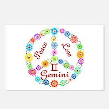 Peace Love Gemini Postcards (Package of 8)