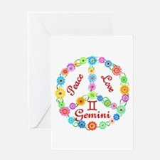 Peace Love Gemini Greeting Card