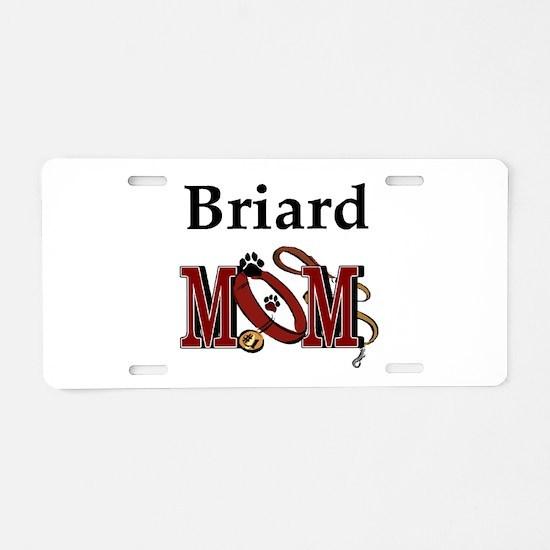 Briard Dog Mom Aluminum License Plate