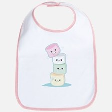 Stacked Marshmallows Bib