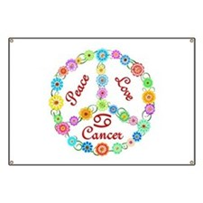 Peace Love Cancer Banner