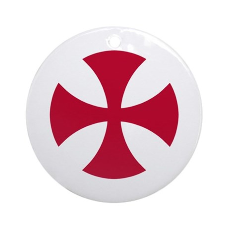Cross Alisee Pattee Ornament (Round)