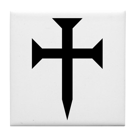 Cross Fichee Tile Coaster