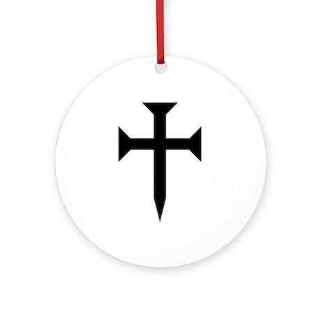 Cross Fichee Ornament (Round)