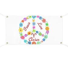 Peace Love Aries Banner