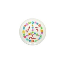Peace Love Aries Mini Button (10 pack)