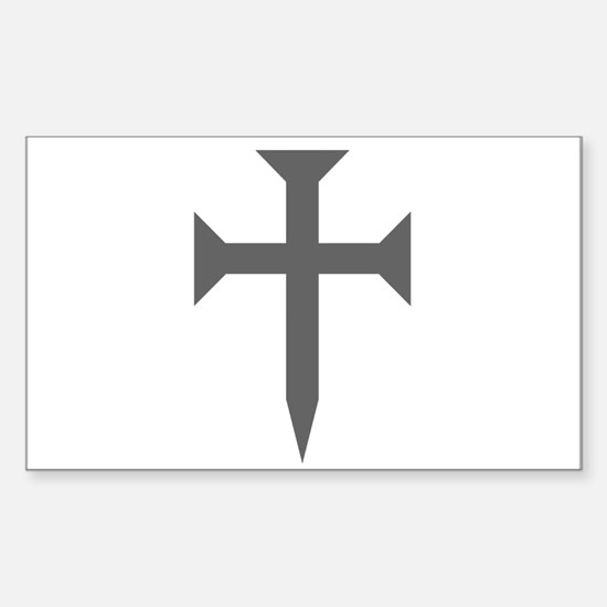 Cross Fichee Sticker (Rectangle)