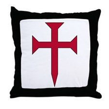 Cross Fichee Throw Pillow