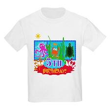 Undersea Adventure 5th Kids T-Shirt