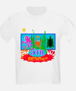 Undersea Adventure 5th Kids T-Shirt