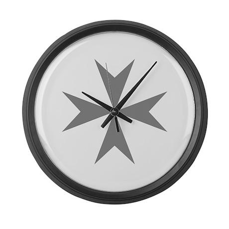 Cross of Malta Large Wall Clock