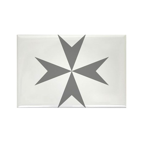 Cross of Malta Rectangle Magnet (100 pack)