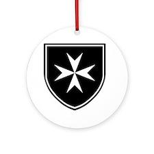 Cross of Malta Ornament (Round)