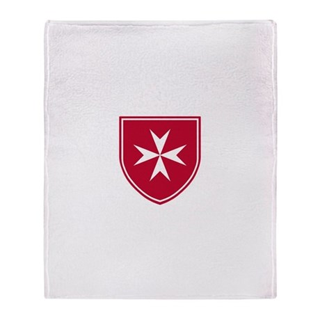 Cross of Malta Throw Blanket