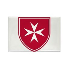 Cross of Malta Rectangle Magnet (10 pack)