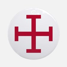 Cross Potent Ornament (Round)
