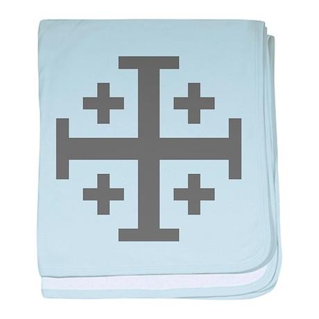 Cross Potent baby blanket