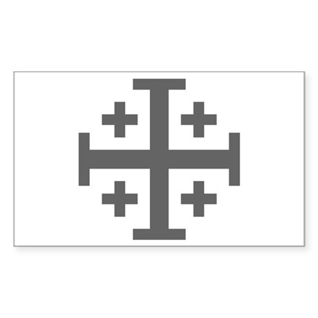 Cross Potent Sticker (Rectangle)