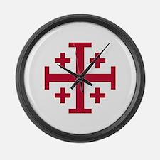Cross Potent Large Wall Clock