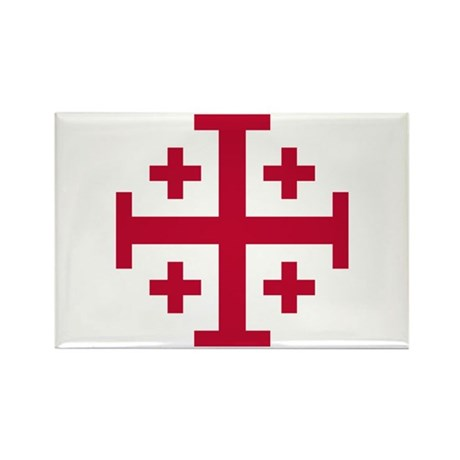 Cross Potent Rectangle Magnet (10 pack)