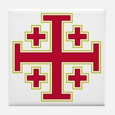 Cross Potent Tile Coaster