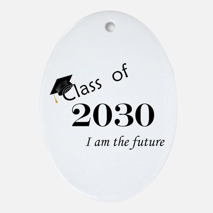 Born in 2012/Class of 2030 Ornament (Oval)