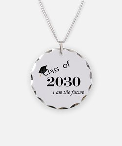 Born in 2012/Class of 2030 Necklace Circle Charm