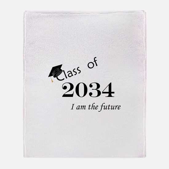 Born in 2012/College Class of 2034 Throw Blanket