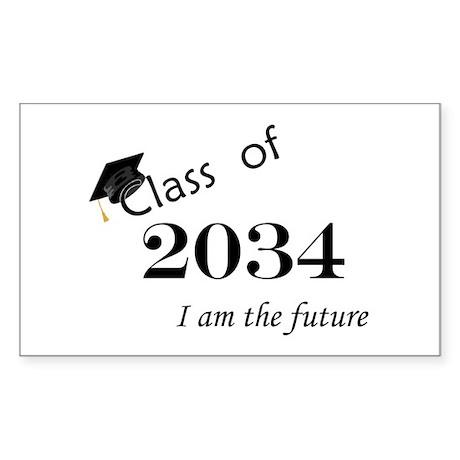 Born in 2012/College Class of 2034 Sticker (Rectan