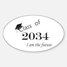 Born in 2012/College Class of 2034 Sticker (Oval)