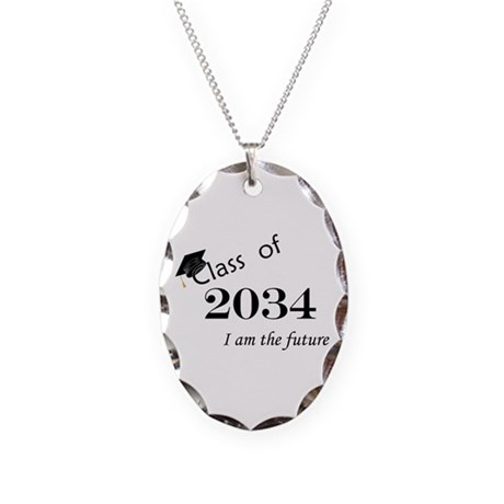 Born in 2012/College Class of 2034 Necklace Oval C