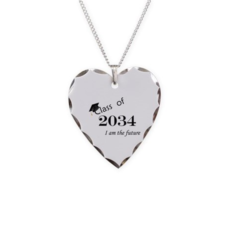 Born in 2012/College Class of 2034 Necklace Heart