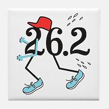 Funny Marathoner 26.2 Tile Coaster
