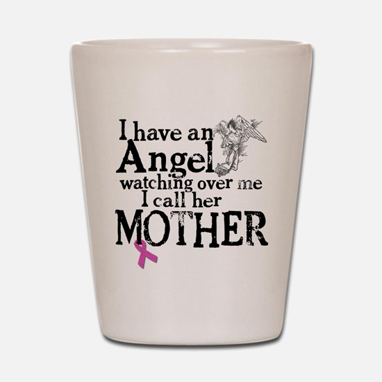 Breast Cancer Mother Angel Shot Glass