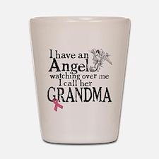 Breast Cancer Grandma Angel Shot Glass