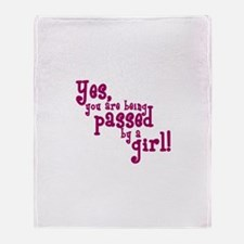 Passed by a Girl Throw Blanket