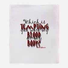 Blood or Body Throw Blanket