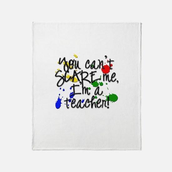 Scare Teacher Throw Blanket