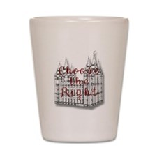 Temple Choose the Right Shot Glass