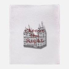 Temple Choose the Right Throw Blanket