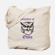 Owl Ministry Blk/Purple Tote Bag