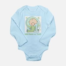 Custom Boy 1st Birthday Long Sleeve Infant Bodysui