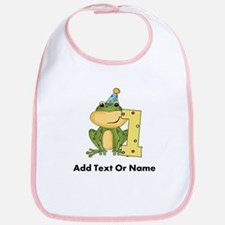 Custom Frog 1st Birthday Bib