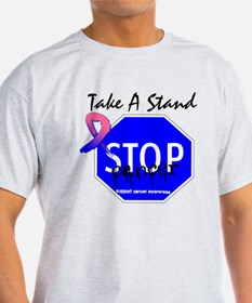 Stop Male Breast Cancer T-Shirt