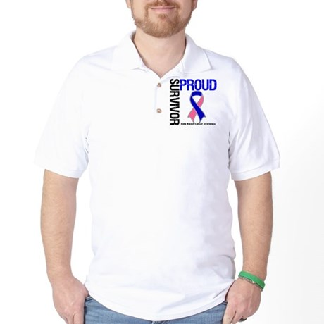 Male Breast Cancer Survivor Golf Shirt