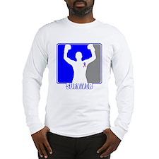 Survivor Male Breast Cancer Long Sleeve T-Shirt