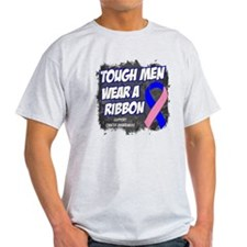 Male Breast Cancer Tough Men T-Shirt