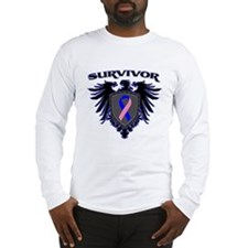 Male Breast Cancer Survivor Long Sleeve T-Shirt