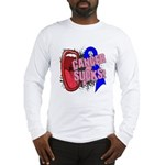 Male Breast Cancer Sucks Long Sleeve T-Shirt