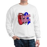Male Breast Cancer Sucks Sweatshirt